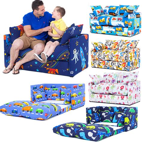 fold out couches for kids children s prints bedroom sofa bed fold out boys girls