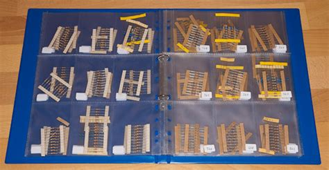 resistor storage binder storing electronics components electronics forums