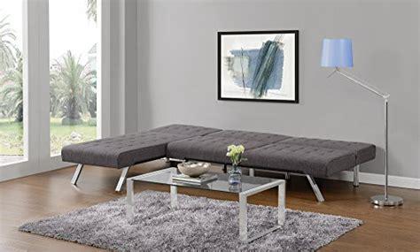 emily convertible futon gray linen dhp sofas couches emily convertible linen futon living