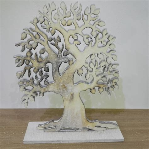 sti per candele di cera albero in legno stilizzato h cm 30