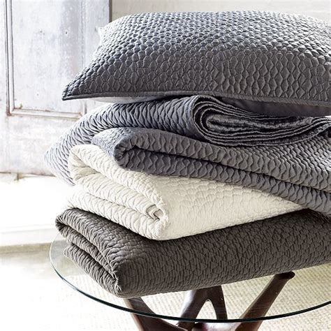 Grey Quilts And Coverlets Coverlet Shams
