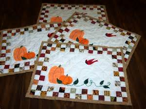 quilted fall placemats pattern allcrafts free crafts update