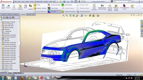 solidworks pattern of bodies tutorial car design camaro body design solidworks 3d