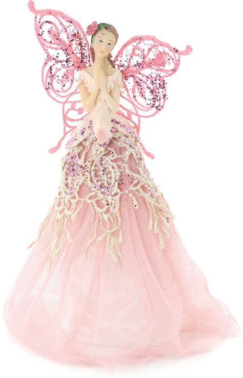 pink angel fairy christmas tree top topper decoration
