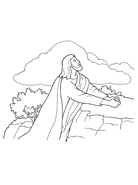 coloring pictures of jesus praying jesus christ lds coloring pages garden gethsemane grig3 org