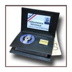 porte carte gendarmerie nouveau format 3 volets avec grade