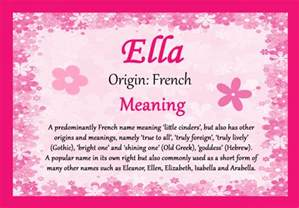 ella name meaning certificate