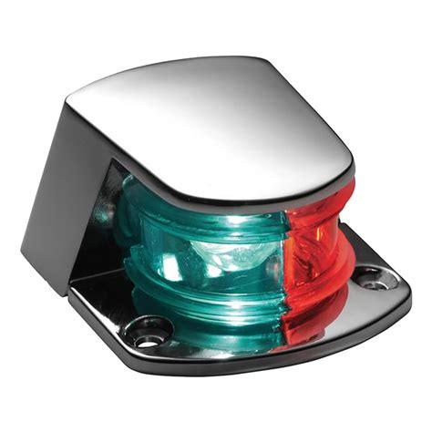 attwood boat lights attwood bi color combination sidelight 12v chrome