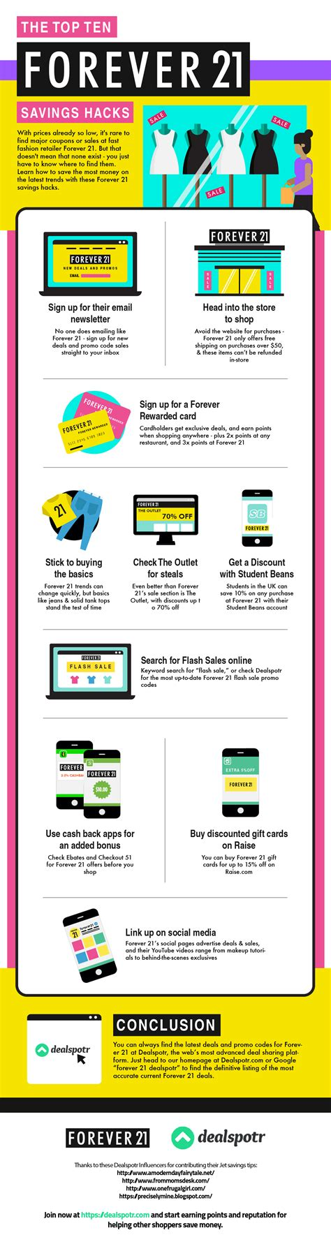 How To Use Forever 21 Gift Card Online - top 10 ways to save money at forever 21 infographic