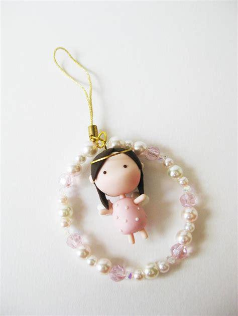 Gantungan Handphone Clay Smurf 2 Handmade Japan mantou keychain clay pink on luulla