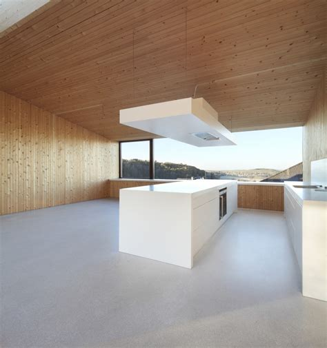 wooden interior contemporary approach minimalist house with unusual shape