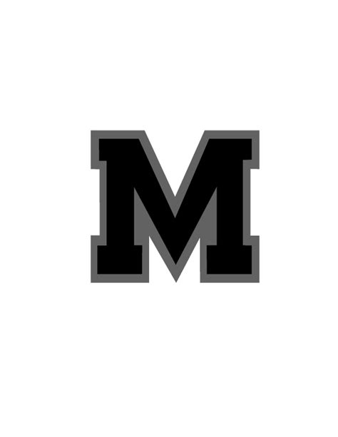 Block M Outline by Logo Page Preview Masoncomets Org