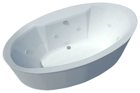 freestanding bathtub with jets spa world corp atlantis tubs 3468sw suisse 34x68x24 inch