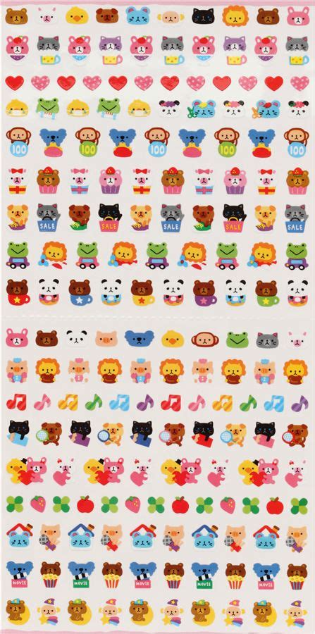 Sticker Small small animal sticker kawaii from japan sticker sheets