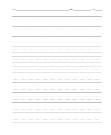 printable 2nd grade writing paper printable writing paper for second grade best paper 2017