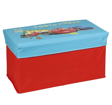 cars storage bench disney pixar cars lightning mcqueen ottoman kids storage bench stool chest lid