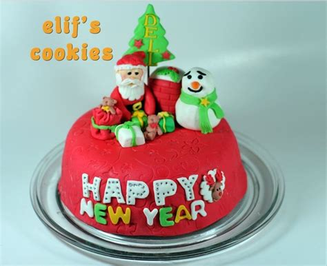 the cake new year new year cake 2016 new year s day 2016 fondant cake images