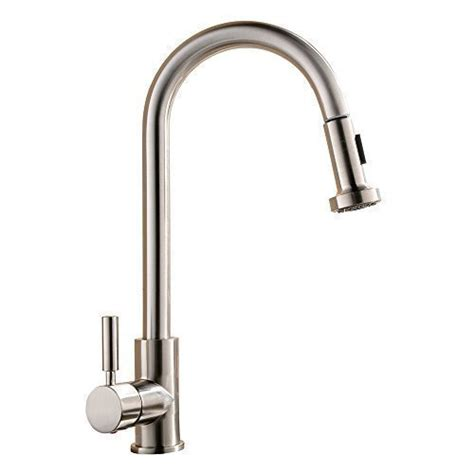 Industrial Kitchen Faucets Stainless Steel Best Commercial Single Handle Pull Out Sprayer Stainless Steel Kitchen Sink F Ebay