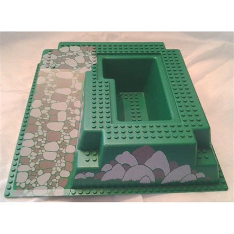 Lego Baseplate 29 2pcs lego baseplate 32 x 32 raised with r and pit with gray and gray rocks brick owl lego