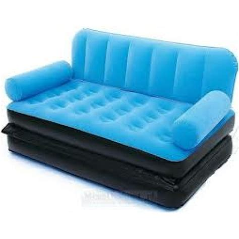 air bed couch bestway velvet 5 in 1 air sofa bed air launcher mrp