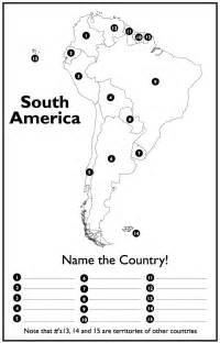 blank map of south america quiz outline maps for continents countries islands states and