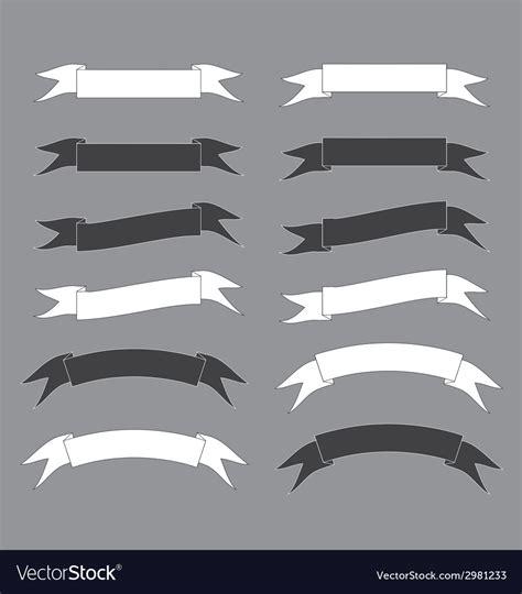 Bw Ribbon bw ribbon royalty free vector image vectorstock