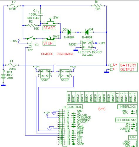 bms schematic diagrams of circuit and schematics