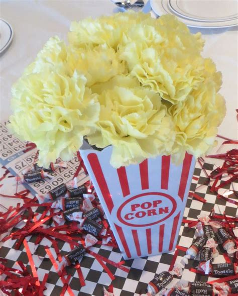 popcorn centerpiece ideas 1000 ideas about 50s themes on sock hop