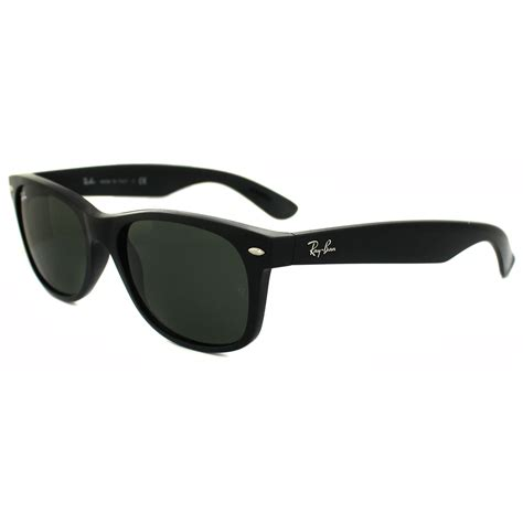 black and white ray ban wayfarers ray ban sunglasses new wayfarer 2132 901l black green g 15