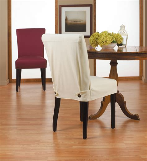 interior dark brown fabric sure fit dining room chair