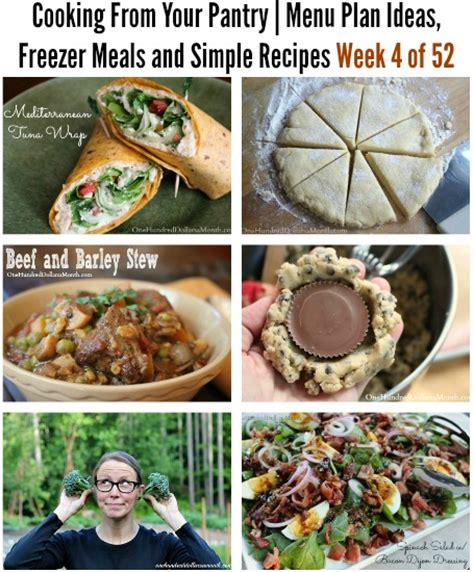 Recipes From Pantry by Cooking From Your Pantry Menu Plan Ideas Freezer Meals