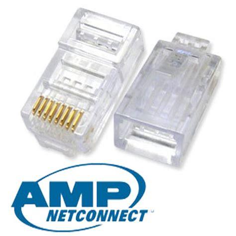 jual konektor rj45 cat5e original per pack isi 50pcs solusi computer