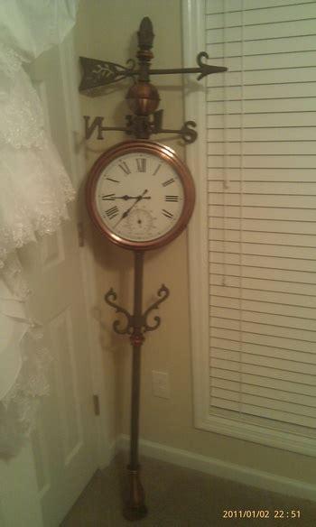 weathervane double sided clock temperature gauge