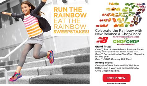 Rainbow Sweepstakes - chopchop magazine and new balance giveaway kidsinthekitchen