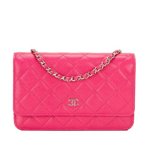 Sale Tas Wanita Lv Classic Woc chanel fuchsia pink classic quilted caviar wallet on chain woc world s best