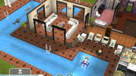 Sims Mansion Floor Plans by Sims Freeplay Two Storey Mansion Youtube