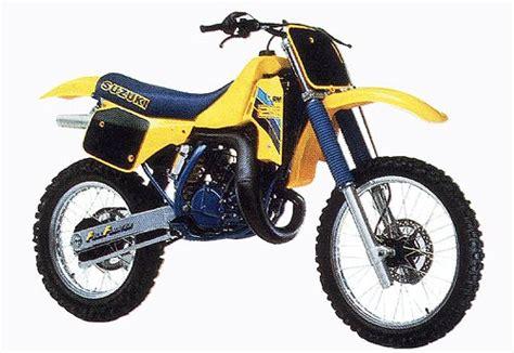 1986 Suzuki Rm 250 Suzuki Rm250 And Rmx250 Model History