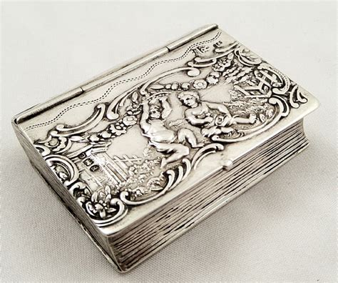 the silver box the silver box series books antique sterling silver book trinket box 1898 274808