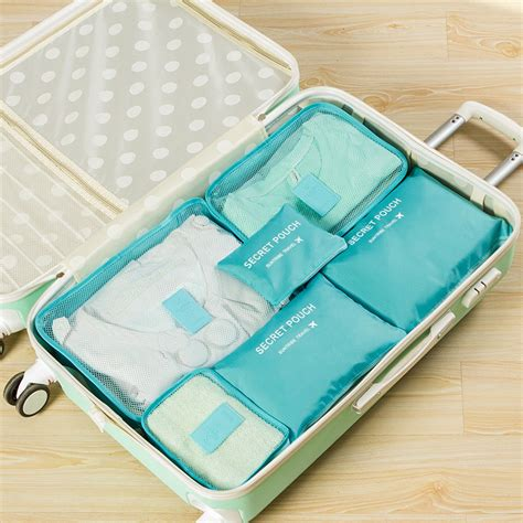 Tas Travel Travel Bag Murah Tas Travel Bag In Bag Organizer Barang 6 Set Blue