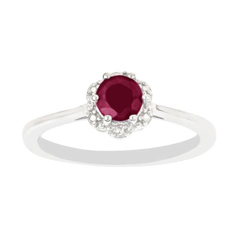 sterling silver ruby ring kmart