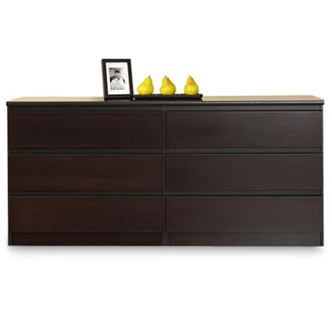 laguna double 6 drawer dresser laguna 6 drawer double dresser lacquered espresso