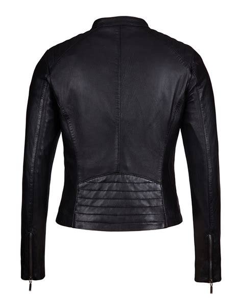 womens black leather moto lambskin leather jackets for womens jackets review
