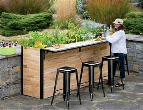 outdoor bar plant a bar an outdoor bar made with reclaimed wood that