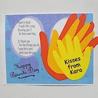 Birthday Card Template Handprint by Handprint Parent S Day Card