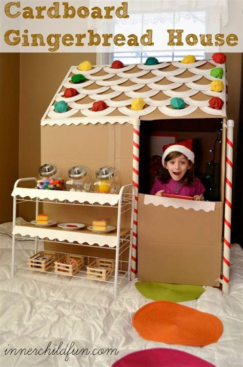 How To Make A Gingerbread House Out Of Paper - cardboard gingerbread house size inner child