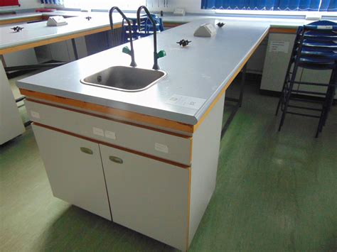 bench science large college science work bench table with sink hot