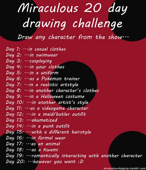 Drawing 6 Hours A Day by Miraculous 20 Day Drawing Challenge By Linamomoko On