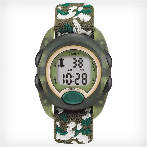 timex kids digital camo elastic fabric