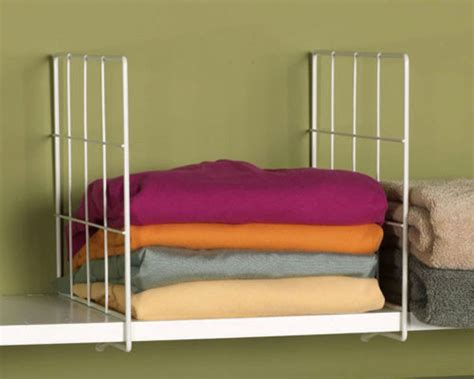 Shelf Dividers For Closets by White Wire Shelf Dividers Closet Storage