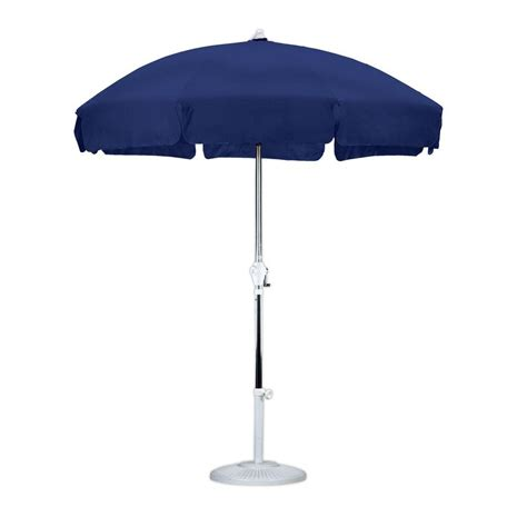 Patio Umbrella by California Umbrella 7 1 2 Ft Fiberglass Push Tilt Patio